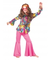 Kinder hippie blouse met bloemen