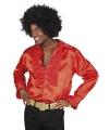 Rode rouche overhemd voor heren